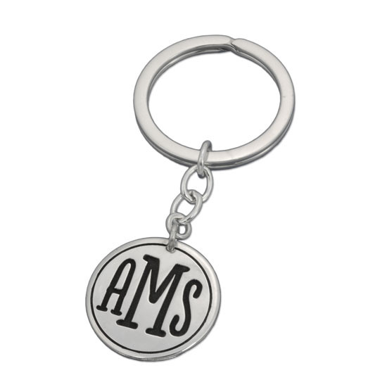 Round Monogram Key Ring