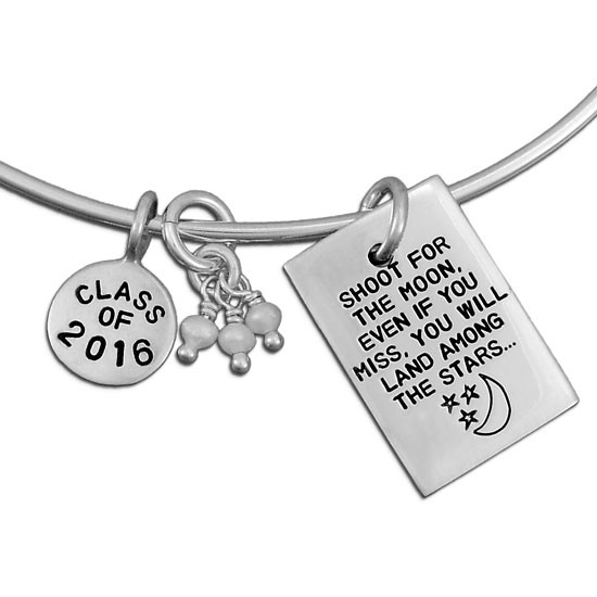 Shoot For the Moon Bangle Charm Bracelet