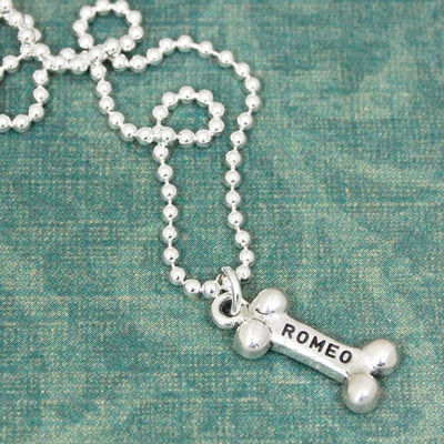 Sterling Dog Bone Necklace