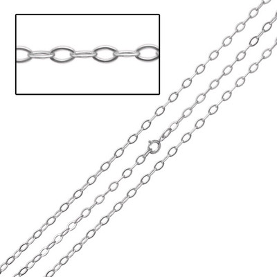 Sterling Flat Cable Chain