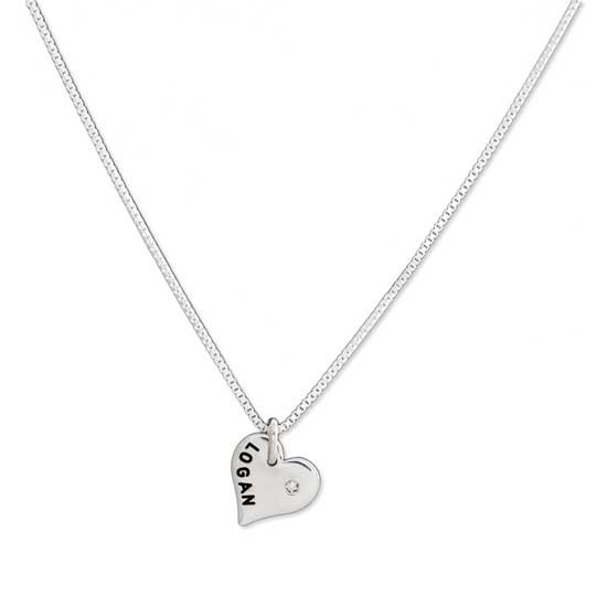 Sterling Heart with Diamond