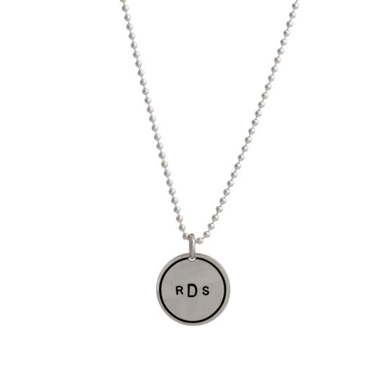 Sterling Monogram Disc
