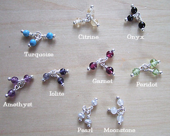 Stone Cluster Earrings <font color=red>- SALE</font>