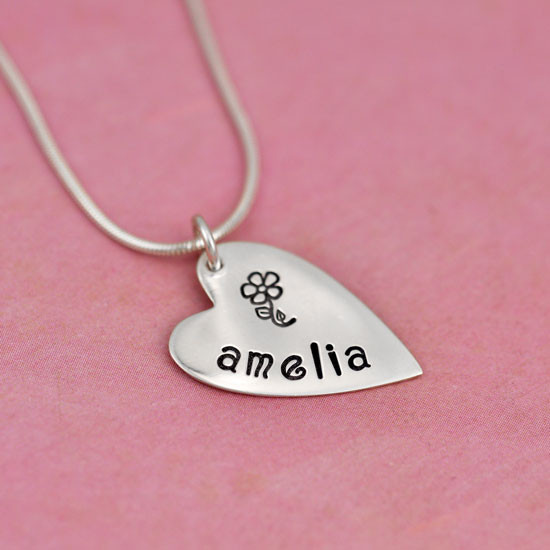 Hand stamped sweetest heart
