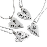 Hand stamped mommy jewelry