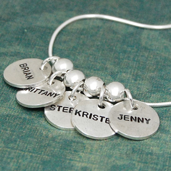 Thai Fine Silver Name Discs (Matte finish) 3 Charm Sizes