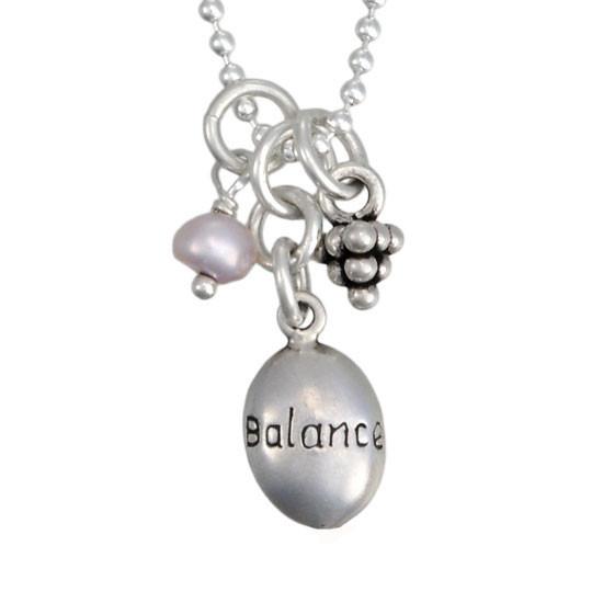 Tiny Balance Charm Necklace