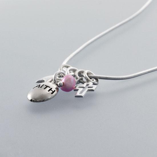 Keep the faith necklace