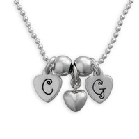 Tiny Heart Letters Necklace