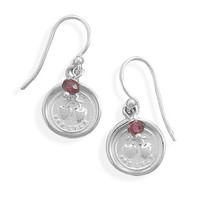 Wax Seal Earrings- Forever