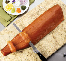Alaskan King Smoked Salmon 3 Hand Cut Sliced Sides 2lbs
