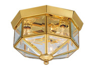 Progress Lighting 3-Light Polished Brass Flushmount P5789-10