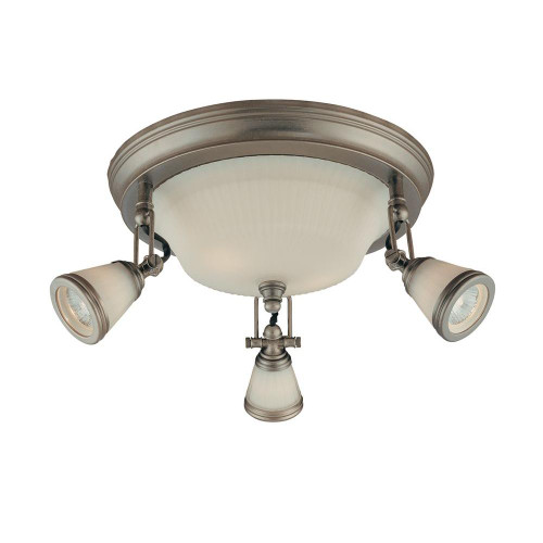 Hampton Bay 5-Light Semi-Flush Mount Antique Pewter
