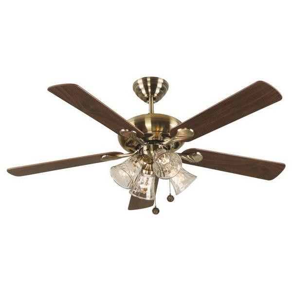 Hampton Bay Portsea 52 In Antique Brass Downrod Ceiling Fan 99 95 Image 1