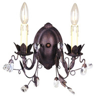 Hampton Bay 2-Light Tuscan Copper Wall Sconce