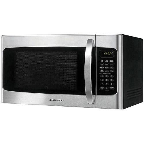 1 1 Cu Ft Microwave Oven Stainless Steel Front Finish Emerson The Open Box Shop