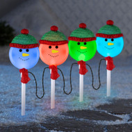 LightShow Snowman Pathway Stakes (4-Count)
