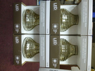 Trendscape Vintage Silver Art Glass Small Table Top Solar LED Lantern Set of 4