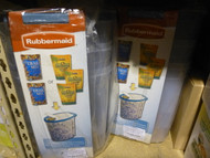 lot of 6 Rubbermaid Cereal Snacks Pet Food Storage Containers 1.5 Gallon Each