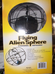Excite Flying UFO Alien Sphere - 3 Channel Remote Controlled Infrared w/Controller