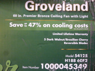 Hunter Groveland 60 In. Premier Bronze Ceiling Fan