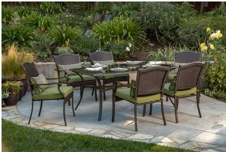 Amazing Better Homes And Gardens Providence 7 Piece Patio Dining Set Green Seats 6 Download Free Architecture Designs Grimeyleaguecom