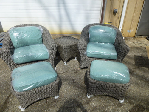 Lake Adela Weathered Gray 5 Piece Patio Lounge Chair And
