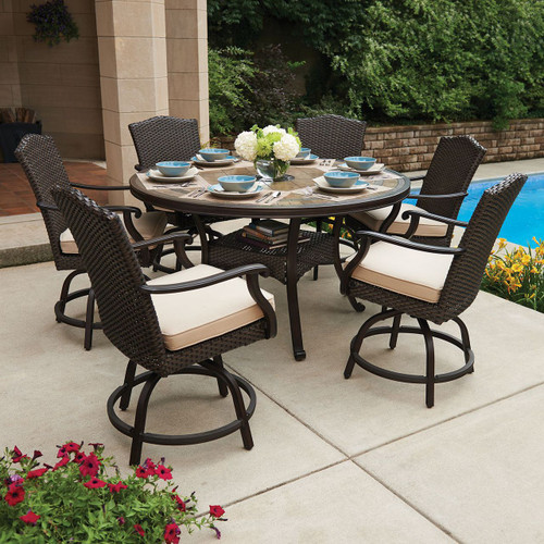 Heritage 7 Piece Balcony Height Dining Set With Premium