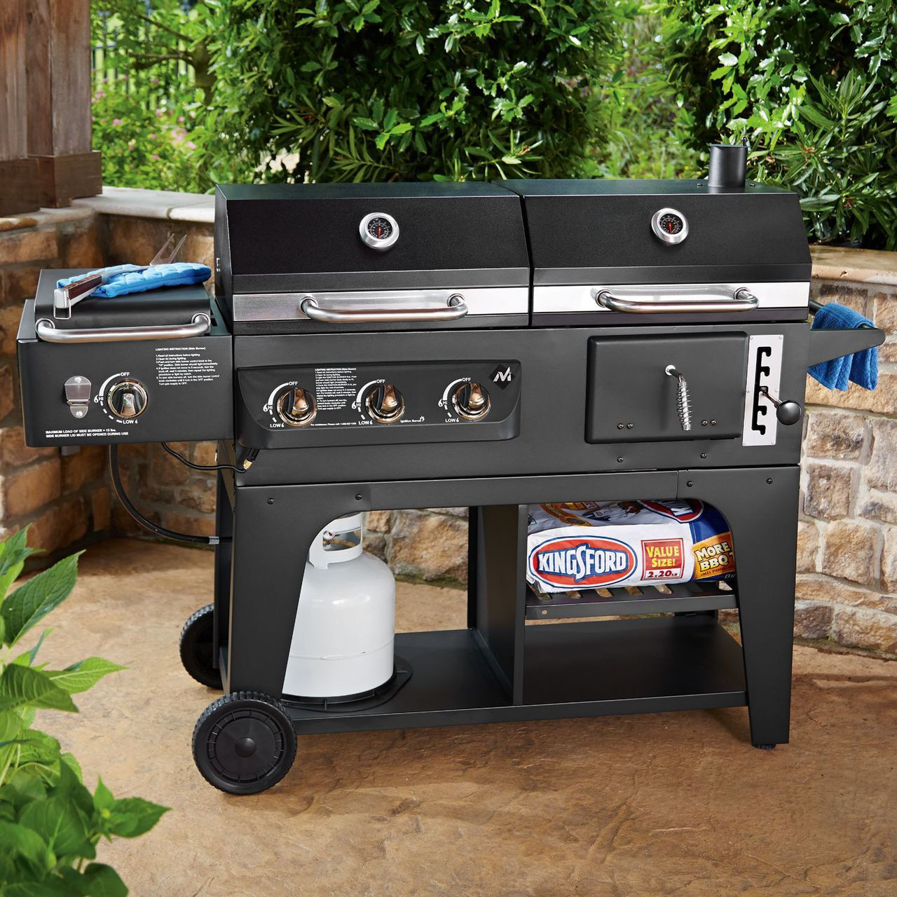gas and charcoal hybrid grill - the open box shop