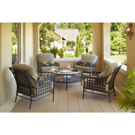Hampton Bay Lynnfield 4-Piece Patio Chat Set  - CHAIRS ONLY