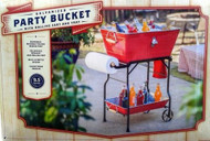 Giftburg Beverage Tub and Serving Cart -Assorted colors
