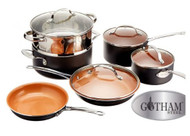 Gotham Steel 10-Piece Kitchen Non-stick Frying Pan and Cookware Set