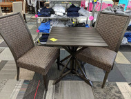 3 PC Patio Bistro set - Aluminum Table
