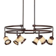 Hampton Bay 6-Light Hanging Antique Bronze Chandelier  506534