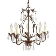 World Imports Lighting 81025-62 Bijoux 5-Light Chandelier Weathered Bronze