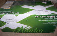 Hunter 48 in. Low Profile IV White Ceiling Fan 22375 with light
