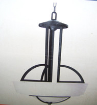 Commercial Electric Levanto 3 Light 60 in. Hanging Bronze Pendant