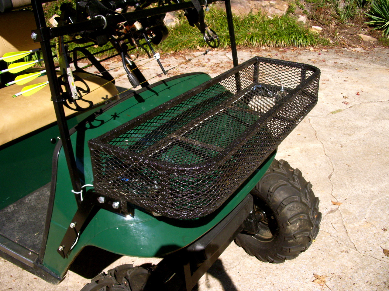 Ezgo Golf Cart Basket And Gun Bow Rack Combo