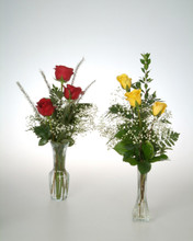 Our triple rose vase stands tall and elegant