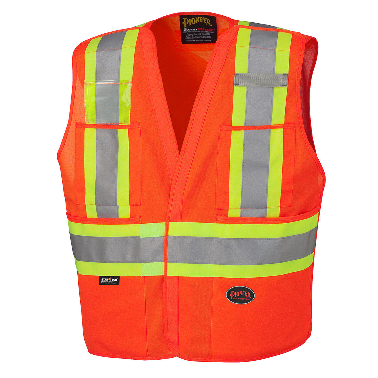 Orange Hi-Viz Safety Tear-away Vest