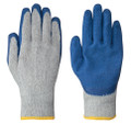 Blue Seamless Knit Latex Glove