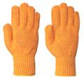 Orange 544 Seamless Knit Criss-Cross Glove
