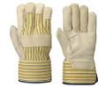 Beige/Yellow Stripe Fitter's Cowgrain Glove