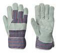 Grey/Red Blue Stripe Fitter's Cowsplit Glove