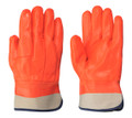 Orange  PVC Foam Lined Glove