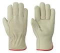 Cream/Red Insulated DriverÔÇÖs Cowgrain Glove
