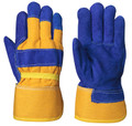 Blue/Yellow Insulated Fitter's Cowsplit Glove