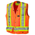 Orange Hi-Viz Surveyor's Safety Vest