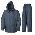 Blue Polyester/PVC Rain Suit