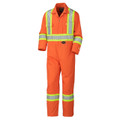 ORANGE 5555T TALL FLAME RESISTANT COTTON SAFETY COVERALL
